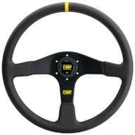 OMP Velocita 380 Steering Wheel - Black Leather