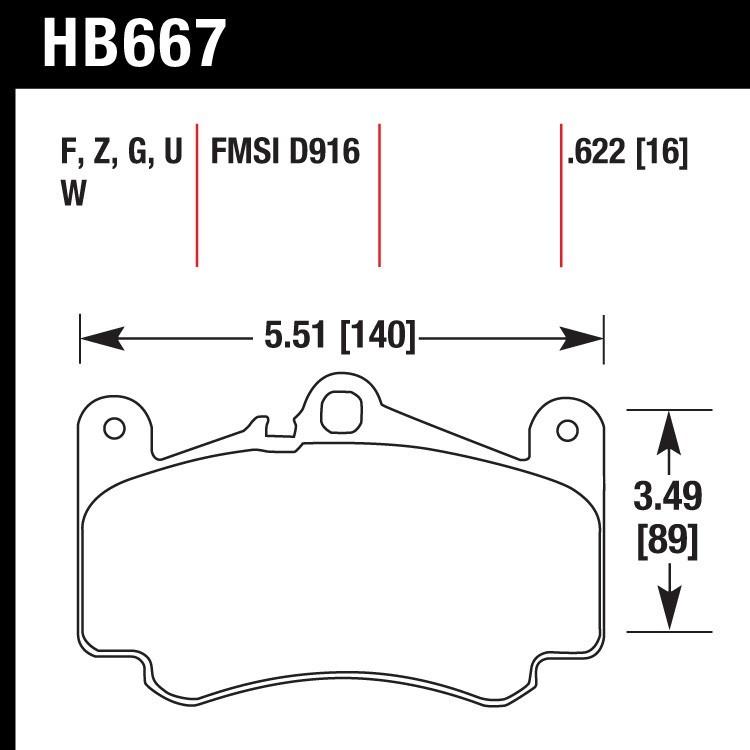 Hawk Performance HB117M.380 Disc Brake Pad